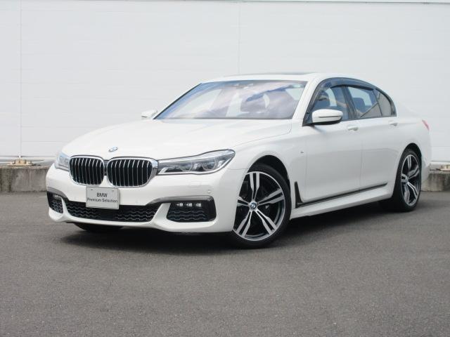 BMW 7シリーズ 740i Mスポーツ ワンオーナー アダプティブLEDヘッドライト 純正HDDナビ コンフォートアクセス ACC サンルーフ PDC バックカメラ コンフォートシート ソフトクローズドア HUD 純正20インチ