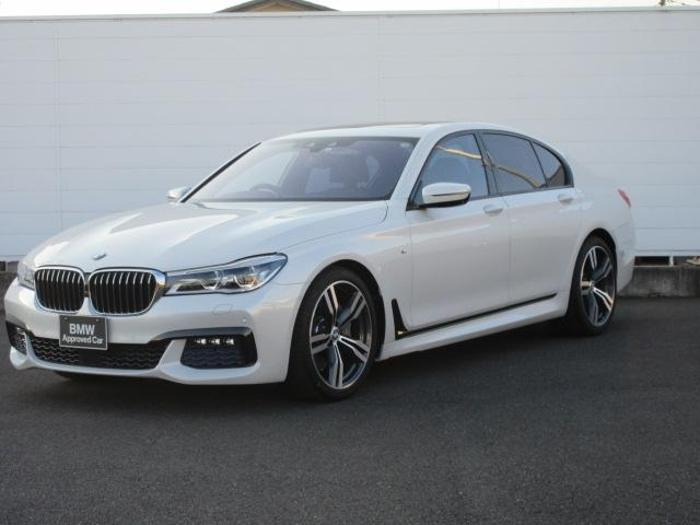 BMW 740i Mスポーツ 純正ETC HDDナビ サンルーフ ACC Harman/Kardon ソフトクローズ ヘッドアップディスプレイ モカレザー フロントリアシートヒーター シートエアコン 純正20インチ