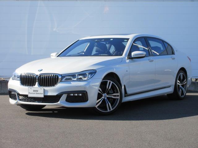 BMW 750Li Mスポーツ 正規認定中古車 ワンオーナー レーザーライト レザーシート シートヒーター シートエアコン ACC HUD 4ゾーンエアコン スカイラウンジサンルーフ リアモニター 純正20インチ ソフトクローズ