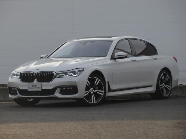 BMW 740d xDrive Mスポーツ レーザーライト 純正HDDナビ モカレザー シートヒーター シートエアコン ソフトクローズドア ACC PDC バックカメラ ヘッドアップディスプレイ ハーマンカードン 純正20インチ サンルーフ