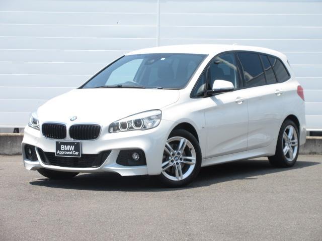 BMW 218dグランツアラー Mスポーツ 正規認定中古車 LEDヘッドライト 純正ETC 純正HDDナビ コンフォートアクセス リアPDC バックカメラ ドライビングアシスト 純正17インチ オートマチックテールゲート