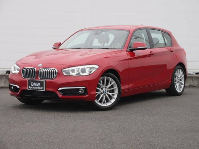 BMW 118i ファッショニスタ 正規認定中古車 弊社元社有車 LEDヘッドライト 純正HDDナビ オイスターレザー パーキングアシスト ACC コンフォートアクセス シートヒーター 純正17インチ ドライビングアシスト