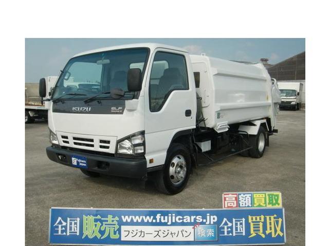 いすゞ エルフトラック プレス式パッカー 塵芥車 7.1立米 積載2.95トン