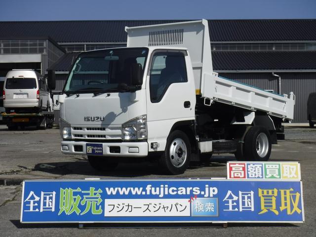 いすゞ エルフトラック 3.0D全低床強化ダンプ積載2t 極東開発 手動シート
