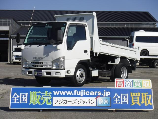 いすゞ 3.0D全低床強化ダンプ積載2t 極東開発 手動シート