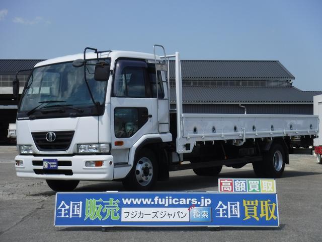 日産ディーゼル ベースグレード 平ボディ積載3.85t6.4D 6MT型式PB-MK36A2005年12月登録 Nox・PM適合 荷台寸長620 幅213 アオリ高40 車体寸長843 幅223 高251