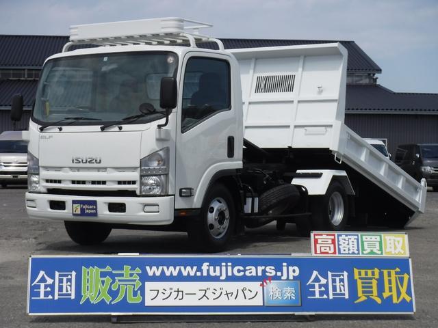 いすゞ エルフトラック 強化ダンプ 5.2Dセフティーローダー積載3.6t新明和 荷台寸長300 幅200ラジコン