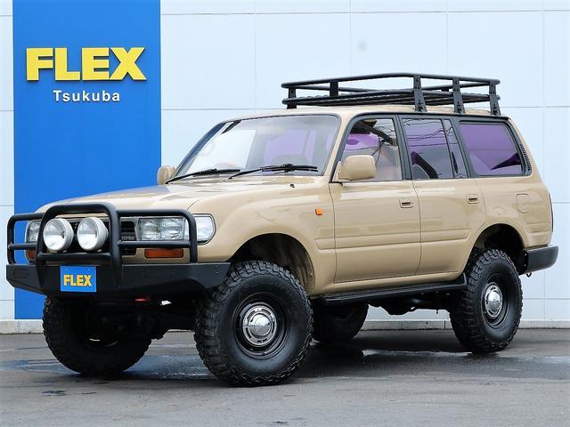 トヨタ ランドクルーザー80 VXリミテッド ナローボディ換装 ベージュ新品塗装 BF Goodrich Mud-terrain DEANホイール リフトアップ ルーフラック