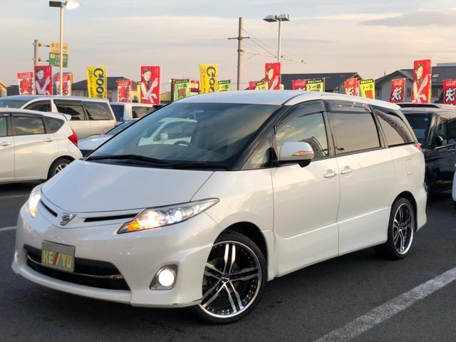 トヨタ アエラス 当社下取 HDDナビ 両側電動 冬タイヤ付 HID