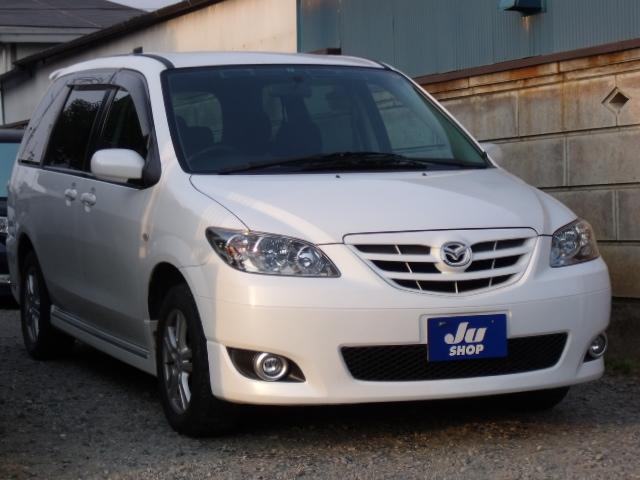 マツダ エアロリミックス 4WD ワンオーナー HDDナビ ETC付