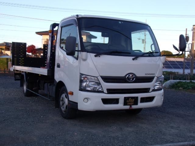 トヨタ 積載車ローダーキャリアETC極東フラトップZeroウィンチ付