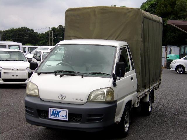 トヨタ  DX 幌付平ボディ 5MT ABS装備 パワーウィンドウ ドアバイザー 最大積載量1000kg