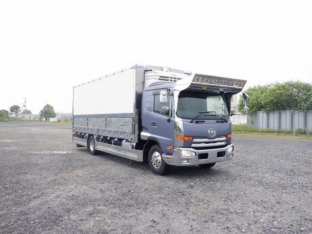 UDトラックス 冷凍 アルミウィング 6400ボデー 寝台付き