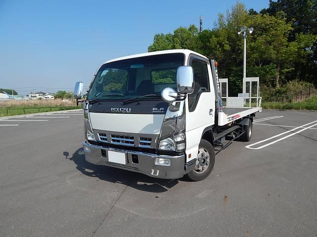 いすゞ エルフトラック ワイドロング 積載車 ユニックUC35 ...