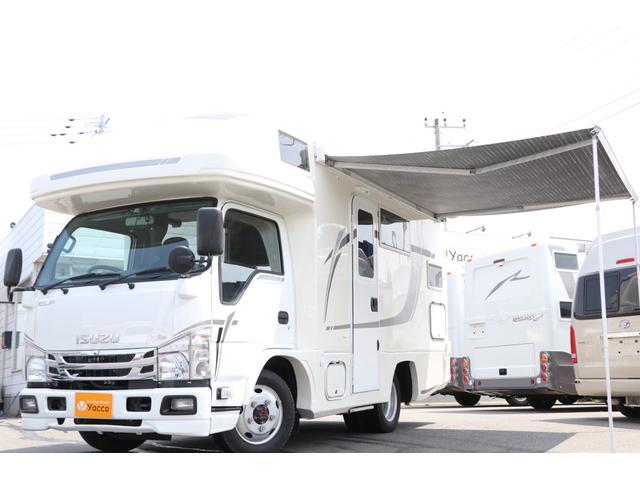 いすゞ エルフトラック バンテック製 ジル520 クルーズ 4WD 禁煙車 スマートキー SDナビ 全周囲カメラ 24V4サブ 家庭用エアコン FF MAXFAN 1500Wインバーター シンク冷蔵庫 電気ボイラー トイレ&シャワー サイドオーニング ソーラー440W