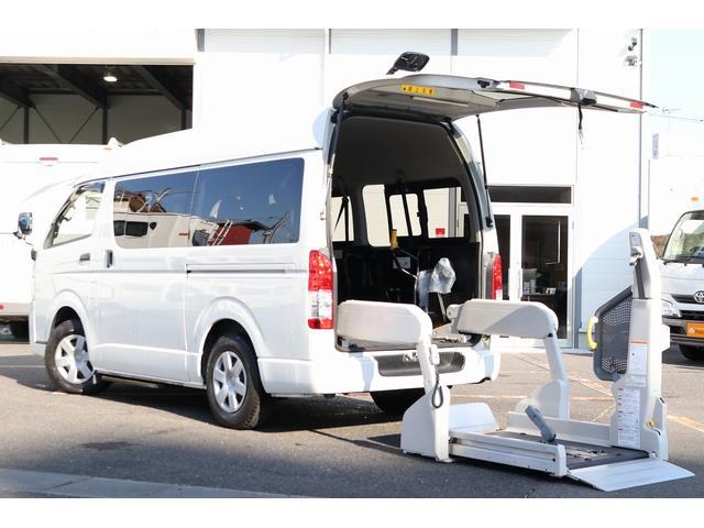 トヨタ レジアスエースバン ウェルキャブ車 車いす仕様車 Bタイプ 電動リフト 車いす固定装置2基 サイドステップ 純正SDナビTV バックカメラ 走行時リアクーラー&ヒーター
