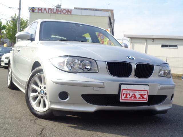 BMW 116i ワンオーナー 禁煙車 社外DVDナビ キーレス スペアキー2個 CD 保証書 取扱説明書 純正16インチアルミ
