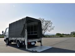 アトラストラック幌付き PG 600kg垂直パワーゲート トラック