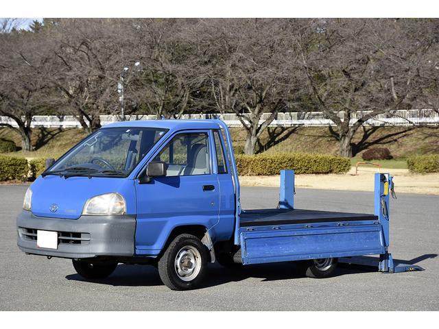 トヨタ 積載量750kg 平ボデー 400kg垂直パワーゲート PG