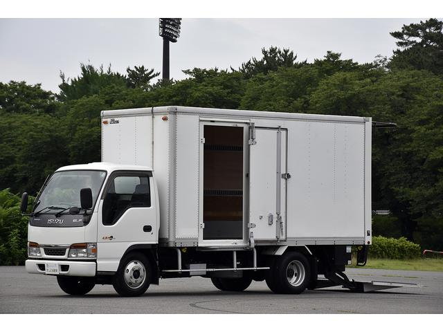 いすゞ エルフトラック 3t アルミバン サイドドア フルゲート オートターン PG