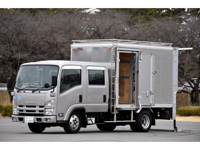 いすゞ  標準ボデー Wキャブ 6人乗り アルミバン サイドドア PG パワーゲート