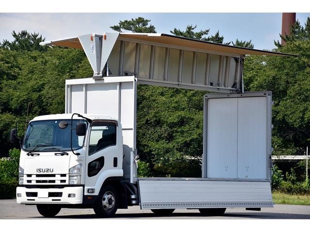 いすゞ  アルミウイング 積載量3200kg エアサス 6速MT 排気量5,200cc