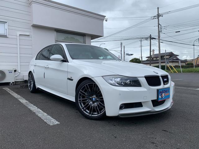 BMW 335i Mスポーツパッケージ 3リッターターボエンジン フルエアロ 18インチアルミ ベージュレザー シートヒーター ドライブレコーダー バックカメラ  リアパワーカーテン サンルーフ キーレス スモークテール ナビ ETC