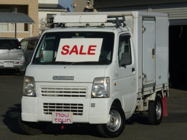 スズキ KCエアコン・パワステ Topre -30度 冷凍冷蔵車 左サイドドア 切替式4WD オートマ車 東プレ