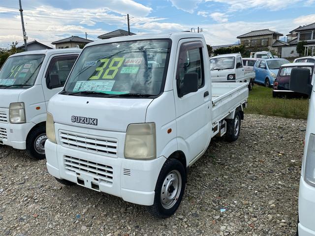 スズキ キャリイトラック  4WD MT 軽トラック オーディオ付 ホワイト