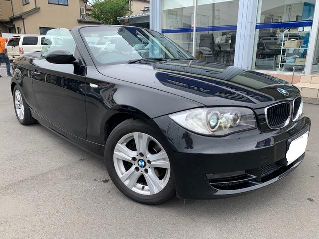 BMW 1シリーズ 120i カブリオレ 電動オープン 社外ナビ 地デジ ETC 本革シート シートヒーター