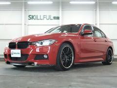 BMW320dMスポーツカーボンフルエアロ19AW黒赤エンブレム