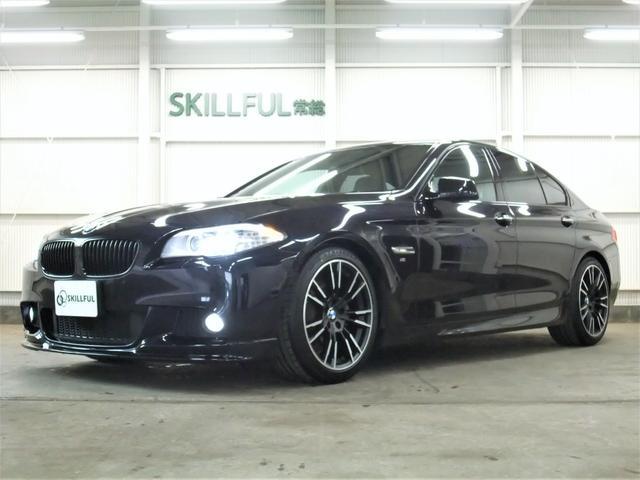 BMW 528iMスポーツ3Dエアロ19AWローサス4本マフラー黒革