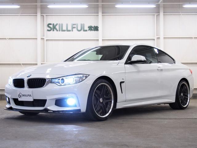 BMW 4シリーズ 420iクーペ Mスポーツ 3Dデザインカーボンフロントリップスポイラー&カーボンリアディフューザーカーボントランクスポイラーWORKグノーシス19アルミREMUS4本出しマフラースモークフィルムアンサーバックロック音