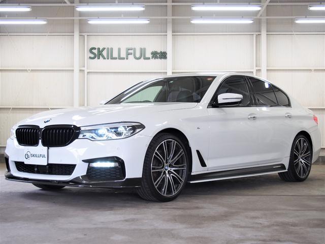 BMW 523d Mスポーツ Mパフォーマンスカーボンフロントスポイラー&サイドスカート&リアディフューザー&カーボントランクスポイラー&ブラックキドニーグリル/オプション20インチホイール/黒革/ナビTV/360度カメラ/禁煙車