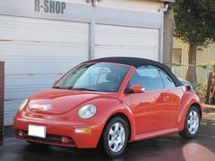 VW ニュービートルカブリオレプラス 左H 黒革シートヒーター ナビ CD ETC