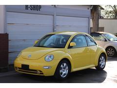 VW ニュービートルターボ 実走44800 濃黄 黒革シートヒーター HID