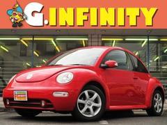 VW ニュービートルサルサ 検/2年付 赤黒本革シ−ト+ヒ−タ− 社外HDDナビ