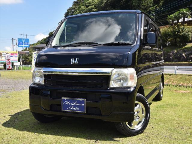 ホンダ バモス L 4WD エアコン パワーウィンド パワステ CD キーレス フルフラット 衝突安全ボディ Wエアバッグ