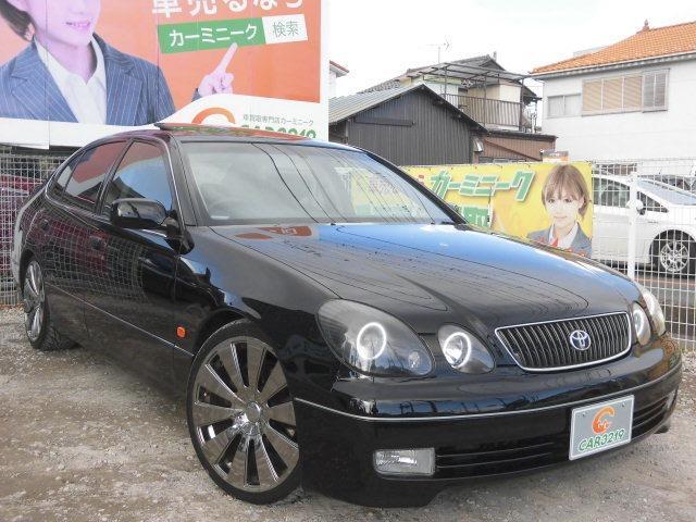 トヨタ V300ベルテックスE HDDナビ黒革 SR19AW 車高調