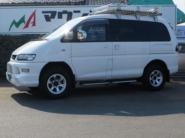 三菱 シャモニー 16インチMTタイヤ フルセグSDナビ Bカメラ