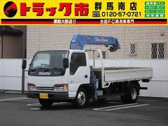 エルフトラック2t積・タダノクレーン4段・2.6t吊フックイン・ラジコン