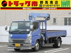 キャンター2t積・タダノ3段クレーン・フックイン・2.3t吊り