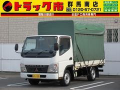 キャンターガッツ4WD・1.5t積・平ボディ・幌カーテン
