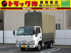 エルフトラック2t積・平ボディ幌付き・垂直パワーゲート600kg・5t未満