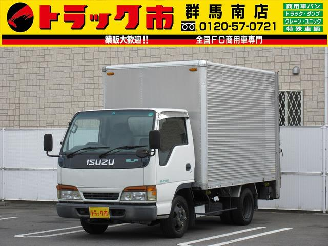 いすゞ エルフトラック 2t積・アルミバン・パワーゲート・ラッシング・総重量5t未満