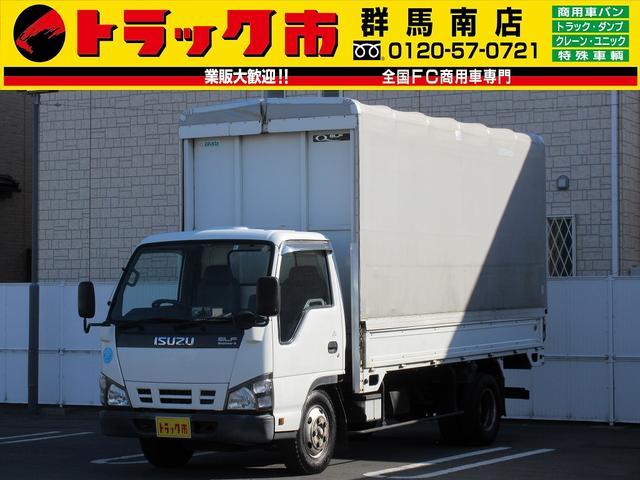 いすゞ 2.95t積・電動幌ウイング・ラッシング1段・スムーサー