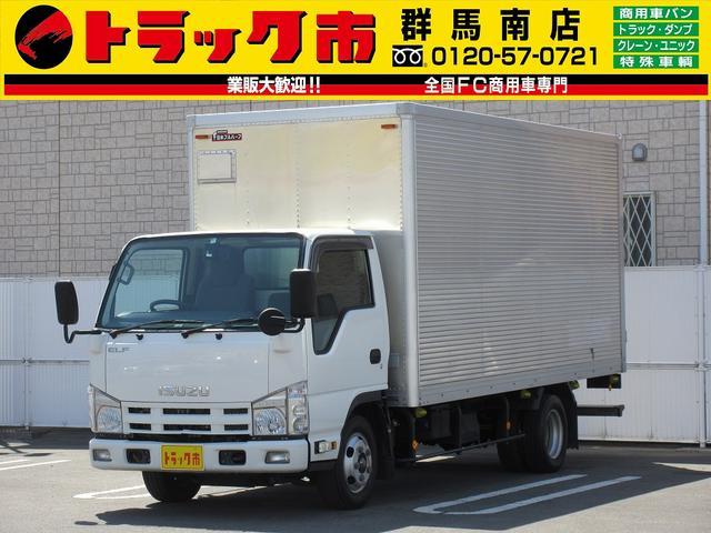 いすゞ 2t積・アルミバン・標準ロング・ラッシング1段