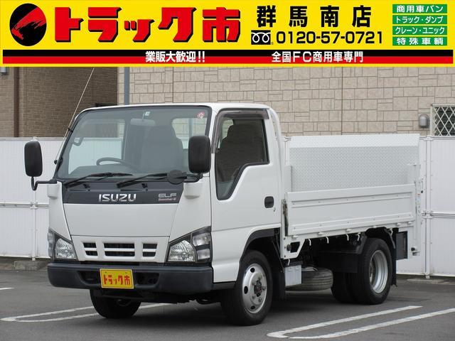 いすゞ エルフトラック 2t積・平ボディ垂直PG600kg・切替4WD切替