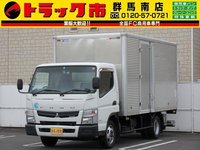 三菱ふそう キャンター 3t積・アルミバン・格納パワーゲート1000kg・サイドドア