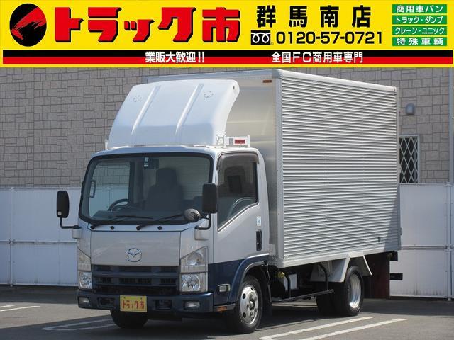 マツダ タイタントラック 2t積・タイタンアルミバン標準セミロング・ラッシング2段 ETC・バックモニター・HSA・左電格ミラー・集中ドアロック・バックブザーOff・90度ストッパー・キタムラ製5t未満・NOxPM適合